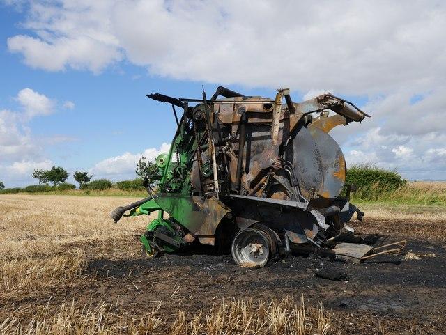 Burnt-out Baler