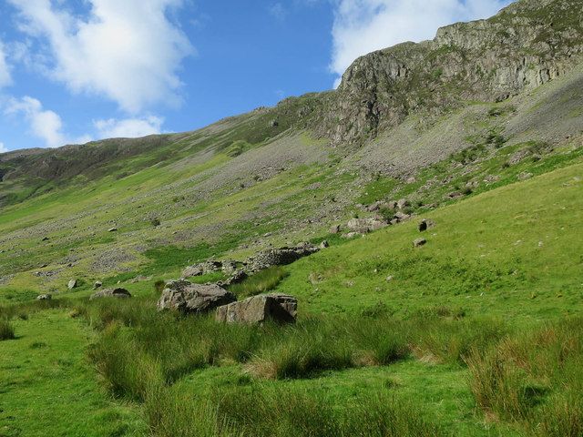 Valley side, Honister Pass