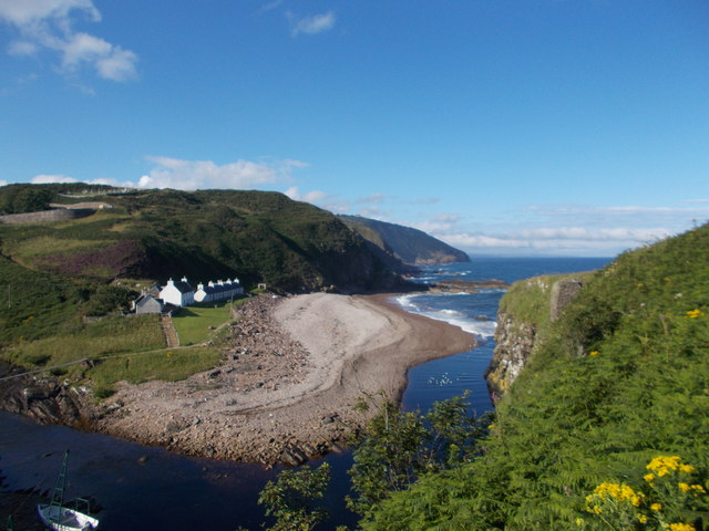 View over Berriedale Harbour, Caithness