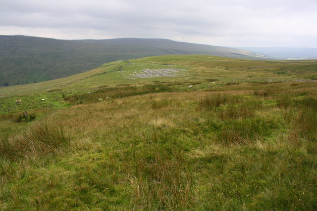 View from Pennine Bridleway towards Little Wold limestone pavement
