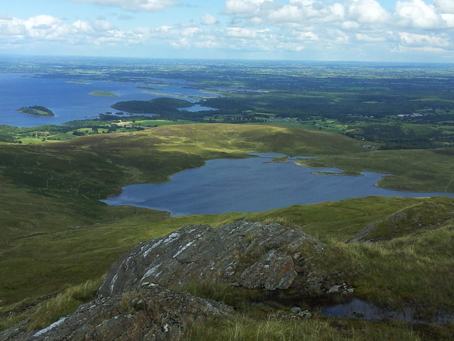 View from Mount Gable towards Lough Coolin