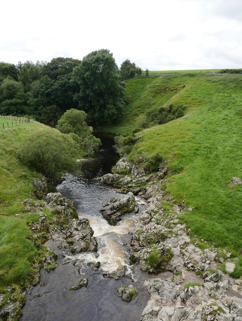 Corkscrew Falls On The River Coquet