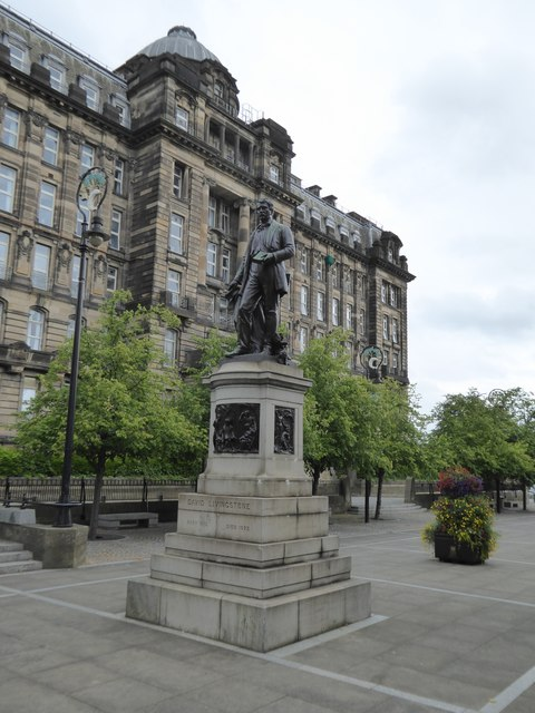 Statue of David Livingstone in Cathedral Square