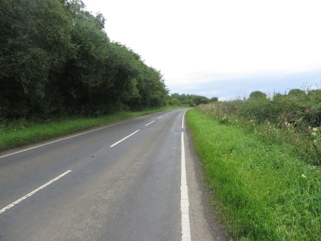 The B1337 south of Ulgham
