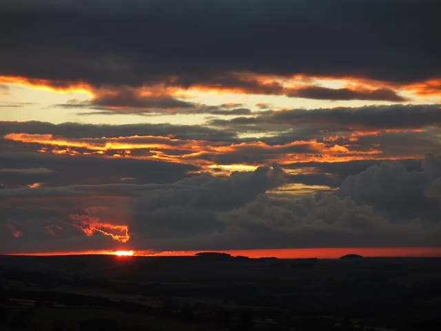 Sunset over Keenley Fell