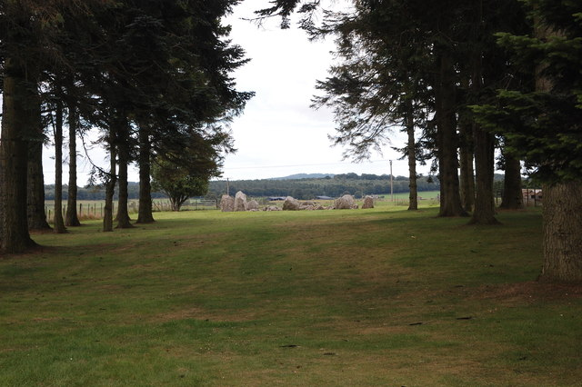 Cullerlie stone circle: view from the road