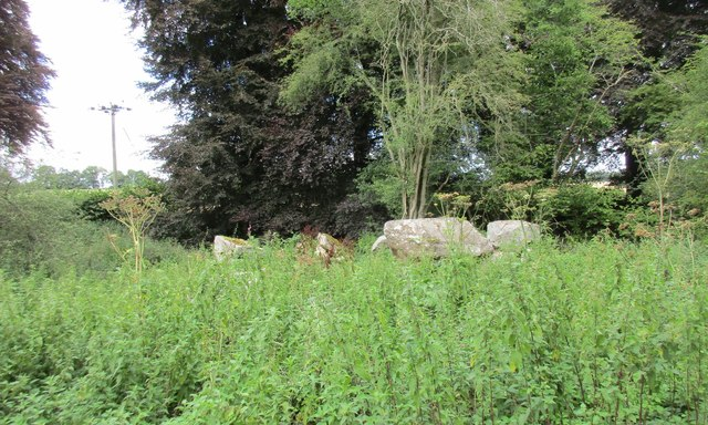 Circle of stones by the A272