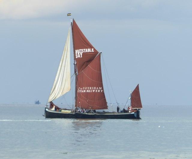 Sailing-barge 'Greta' heading for Whitstable