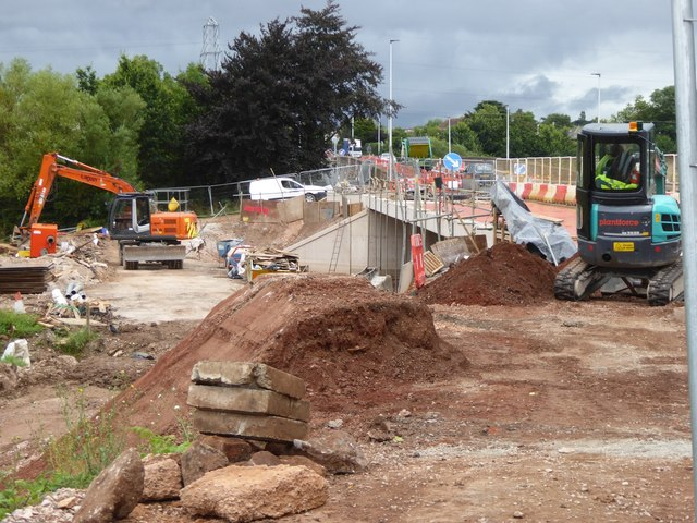Construction on Bridge Road, Exeter