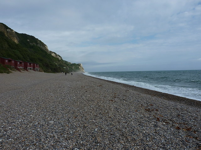 Along the beach at Branscombe Mouth