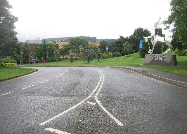 Entrance road - University of Surrey