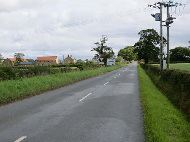 The road from Bishop Thornton to Markington about to cross the road from Ripley to Sawley