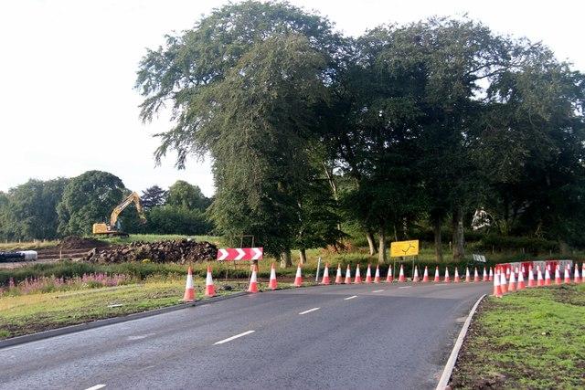 New road layout at Parkhill