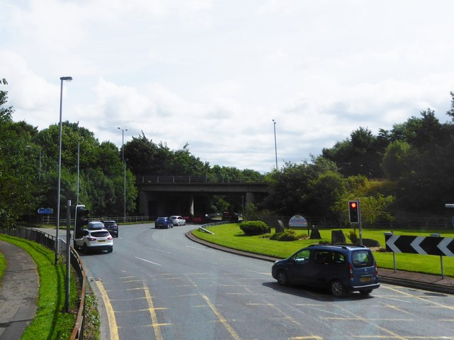 Roundabout at Heap Bridge