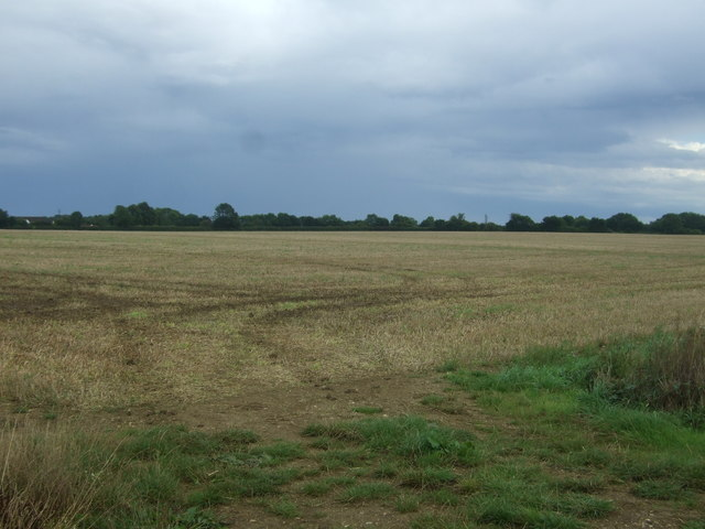 Stubble field near Bridge Farm
