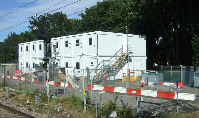 Trackside buildings near Shenfield Railway Station