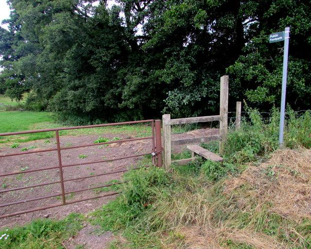 Stile to a public footpath near Eastbach Farm
