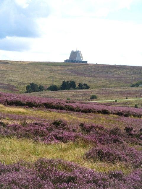 Across the moor towards 'the pyramid'