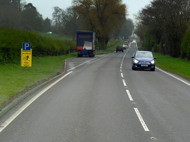 Layby on the northbound A483 near Lilfior Bridge