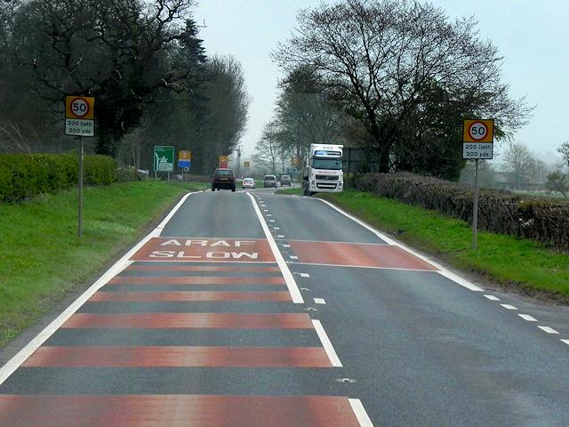 A483 south of Garthmyl,