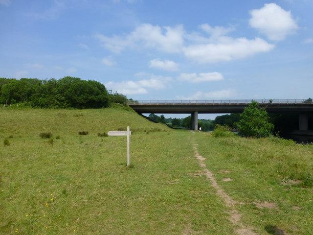 The A55 crosses the River Dee near Eccleston