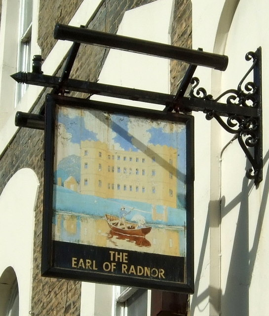 Sign for the Earl Of Radnor public house