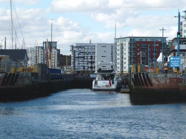 Boats in Prince Philip Lock, Ipswich