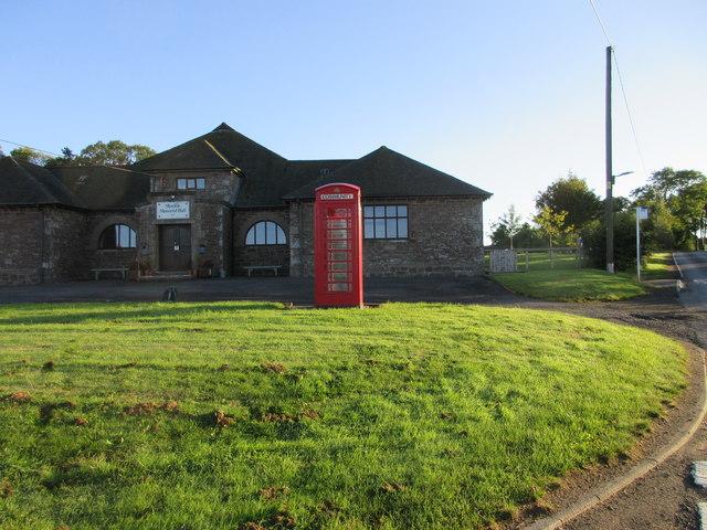 Monikie Telephone Box and Hall