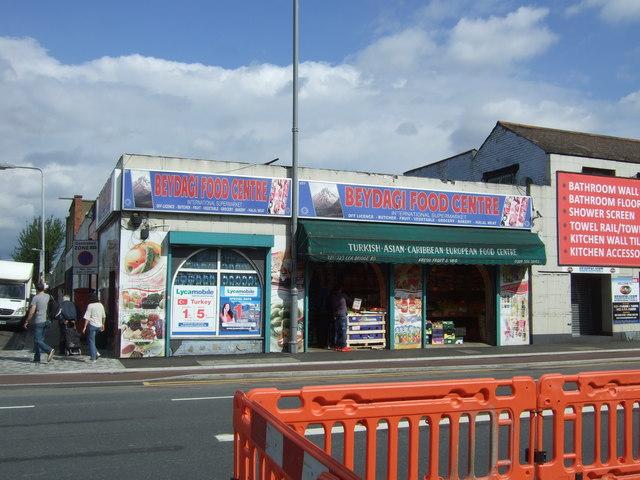Food centre on Lea Bridge Road (A104)