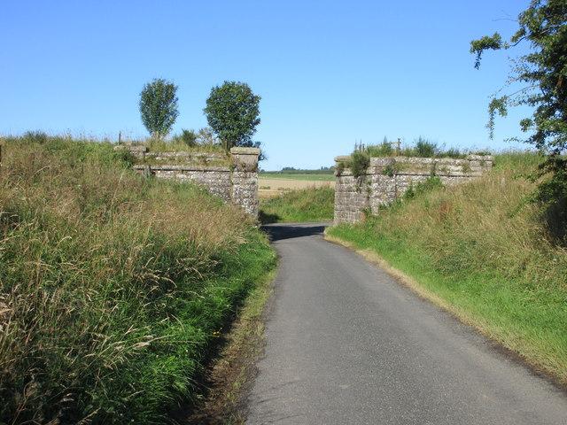 Remains of the railway bridge