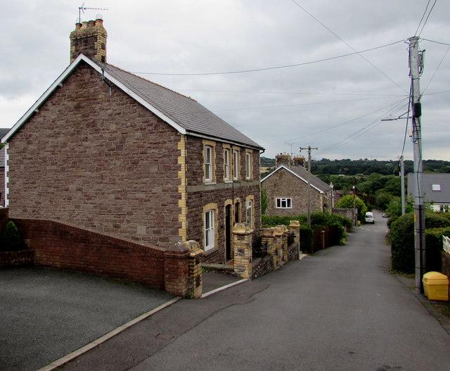 Stone houses, Poplars Road, Mardy