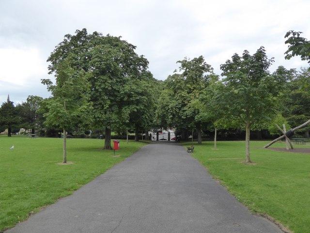 The central path through Bury Meadow