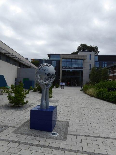 Sculpture outside Exeter University Business School