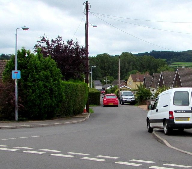 Junction of Poplars Road and Greystones Avenue, Mardy