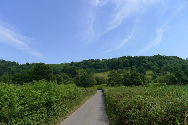 The Cotswold way heading towards Uley Bury