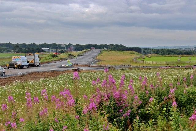 Roadworks at Goval Belt