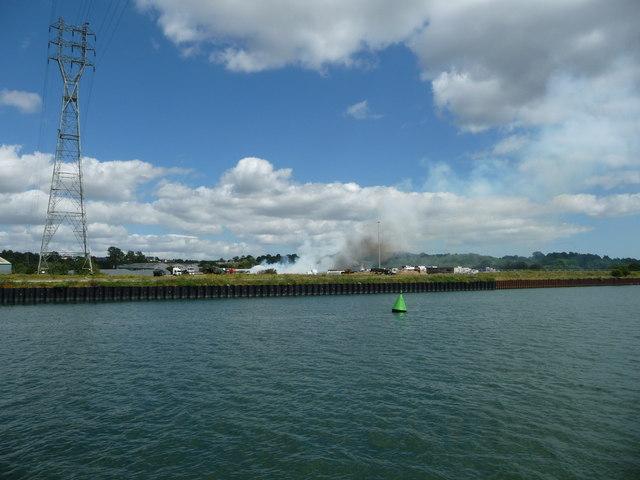 Green navigation buoy, River Orwell