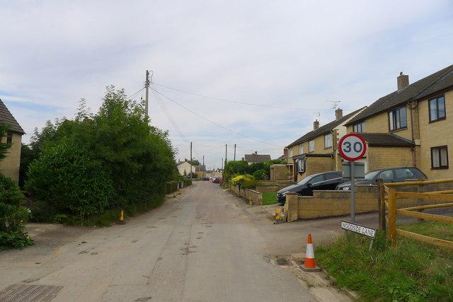 Woodside Lane entering King's Stanley
