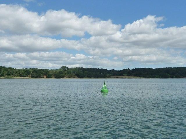 Pond Ooze green navigation buoy, River Orwell