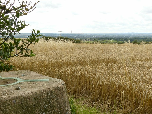 View from Sandiacre trig point