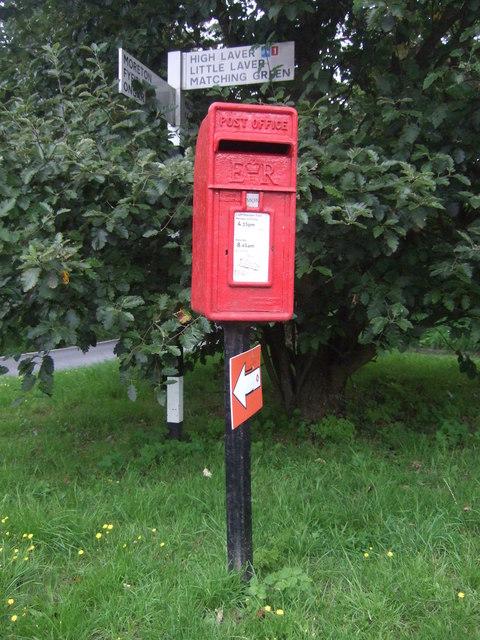 Elizabeth II postbox on Mill Lane