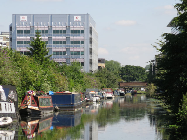 The Grand Union Canal south of Oxford Road, Uxbridge