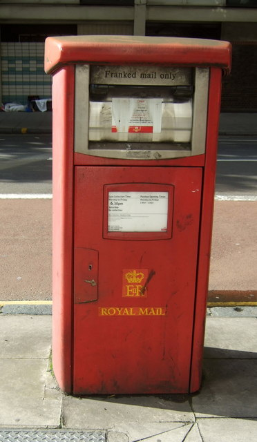 Royal Mail business box on Old Street, London EC1