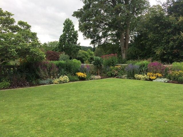 Herbaceous border at Bodnant Garden