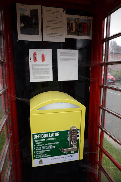 Former telephone kiosk on Main Street, North Duffield