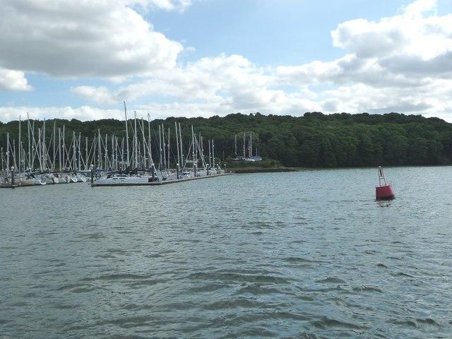 Red navigation buoy, Downham Reach, River Orwell