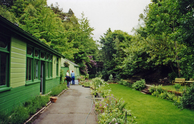 Former Langley (Northumberland) station as Garden Centre, 2000
