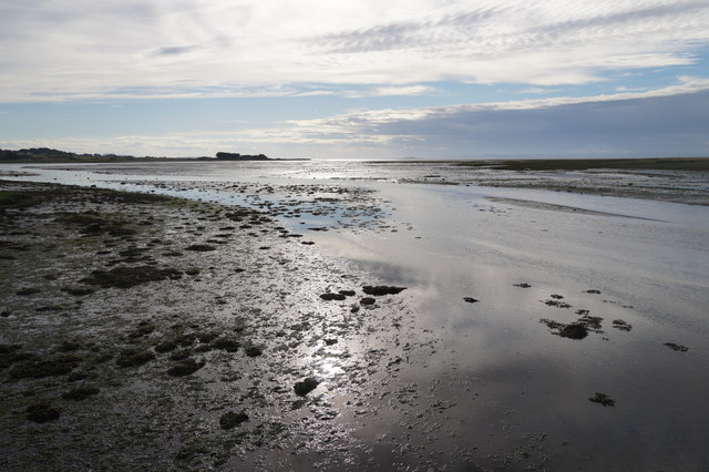 View from the footbridge at Aberlady Bay