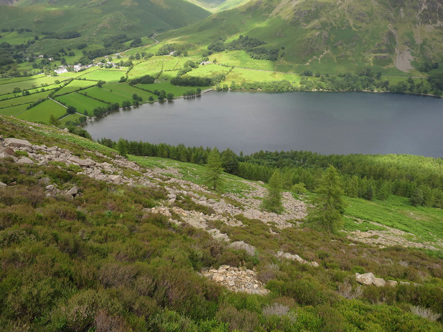 Looking down to Buttermere