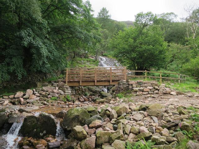 New bridge over Sourmilk Gill